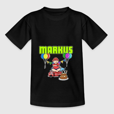 Firefighter Markus gift - Kids' T-Shirt