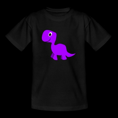 Cute Purple Dinosaur - Kids' T-Shirt