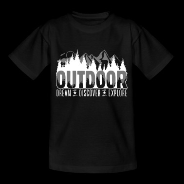 Outdoor - Dream Discover Explore - Kinder T-Shirt