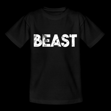 Beast lettering grizzly bear gift idea - Kids' T-Shirt
