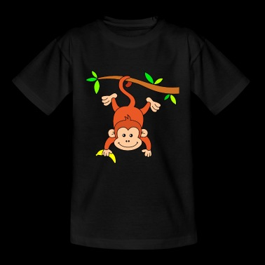 Monkey with banana - Kids' T-Shirt