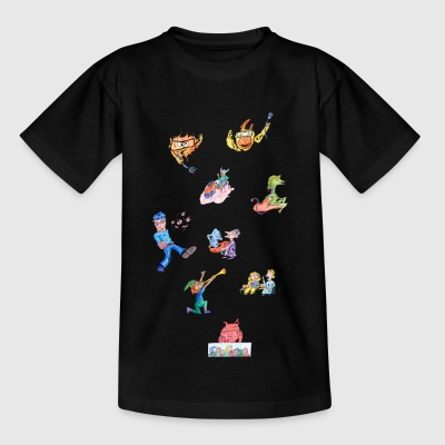 Collection of cartoons - Kids' T-Shirt