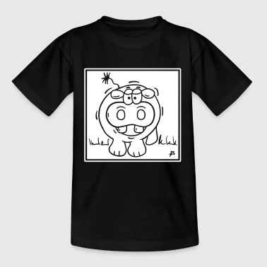 Hippo square - Kids' T-Shirt