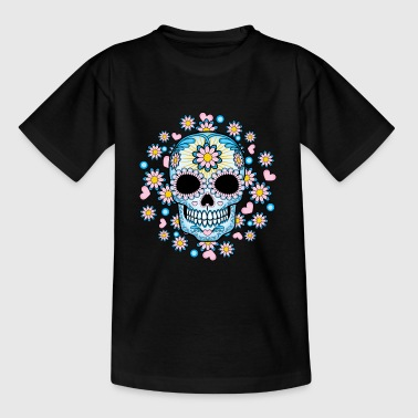 Colorful Sugar Skull - Kids' T-Shirt