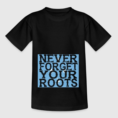 never forget roots home Micronesia - Kids' T-Shirt