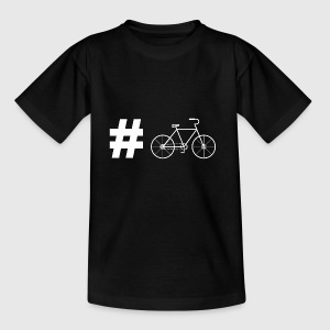 Hashtag bicycle cyclist gift racing bike - Kids' T-Shirt