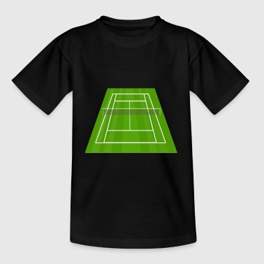 tennis ball court sports bat player player squash - Kids' T-Shirt