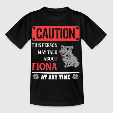 Caution this person may talk about fiona - Kids' T-Shirt