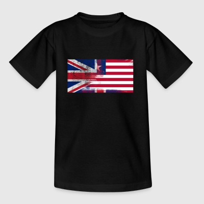 British Liberian Half Liberia Half UK Flag - T-shirt barn