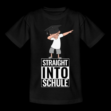 Schulanfang Straight Into Schule DAB Dabbing Boy - Kinder T-Shirt
