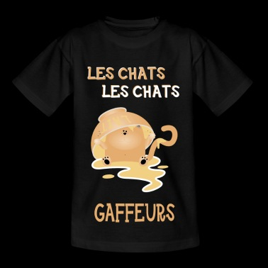 Le chat - T-skjorte for barn