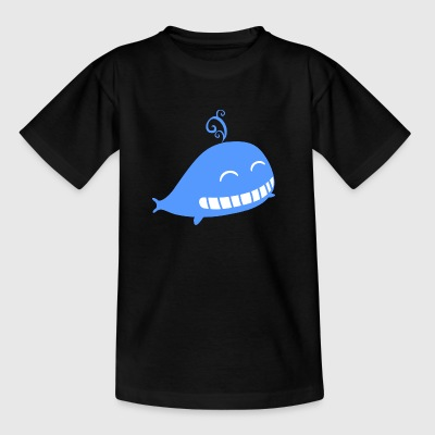 walvis Cartoon - Kinderen T-shirt