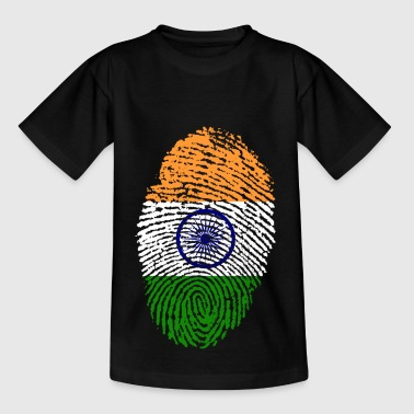 India Bandiera regalo impronte India T-shirt - Maglietta per bambini