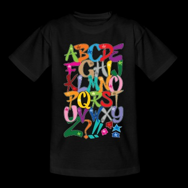 Alphabet - Kinder T-Shirt