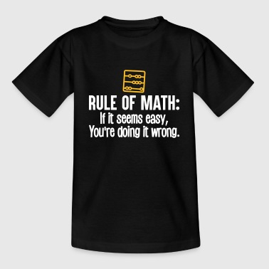 Funny Math - Règle de maths - T-shirt Enfant