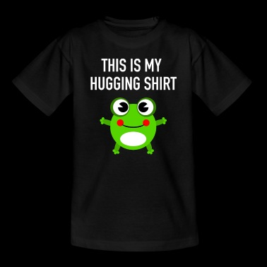 This Is My Hugging Shirt with Cute Frog - T-skjorte for barn