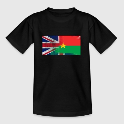 British Burkinabe Half Burkina Faso Half UK Flag - Kids' T-Shirt