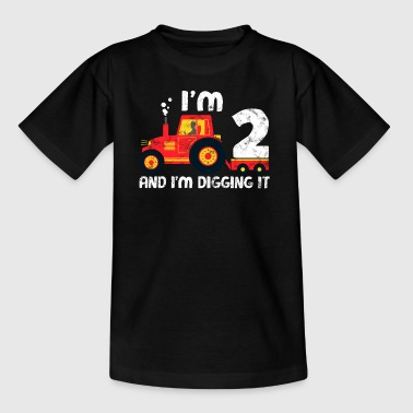 Tractor Birthday Shirt: I love being 2 - Kids' T-Shirt