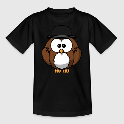 cartoon uil 15 - Kinderen T-shirt