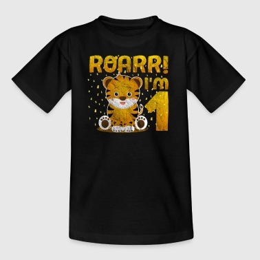ROARR! I am 1 year tiger birthday gift - Kids' T-Shirt