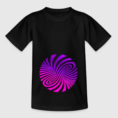 Psychedelic illusion Disco 60s tornado - Kids' T-Shirt
