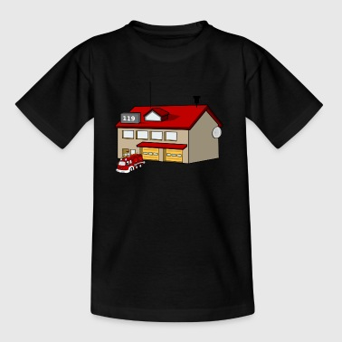 Fire station - Kids' T-Shirt