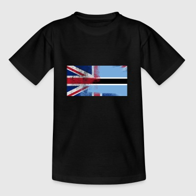 British Botswana Half Botswana Half UK Flag - Kids' T-Shirt