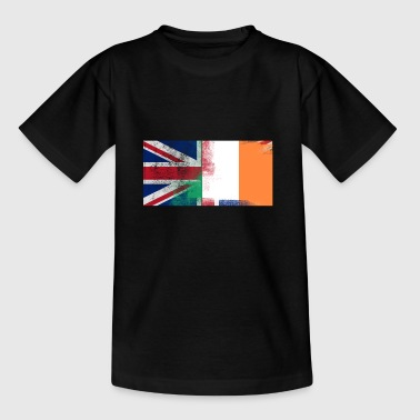 British Irish Half Ireland Half UK Flag - Kids' T-Shirt