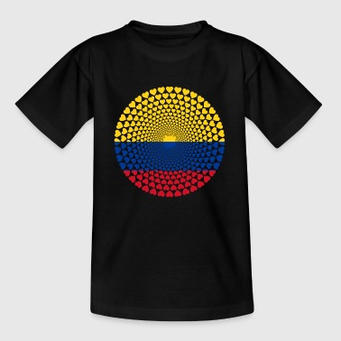 Kolumbien Colombia Herz Mandala - Kinder T-Shirt