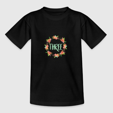 FLOWERART - 3rd BIRTHDAY - Kids' T-Shirt