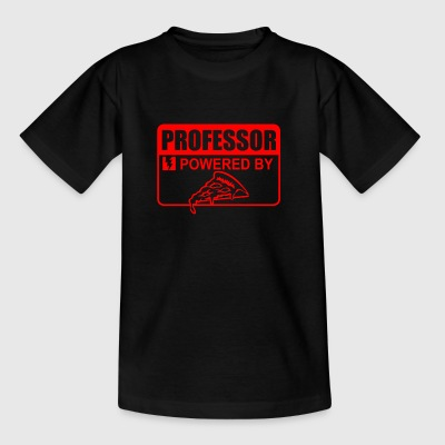 Professor powered by pizza - Kids' T-Shirt