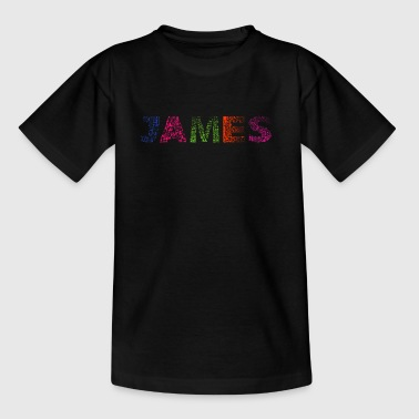James Letter Name - Børne-T-shirt