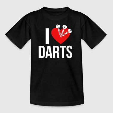 I LOVE DARTS WHITE - Kids' T-Shirt