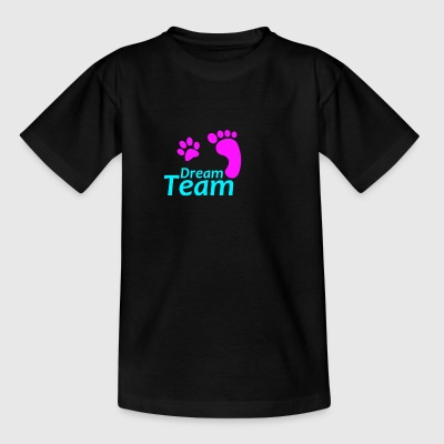 Dream Team rosa blå - T-shirt barn