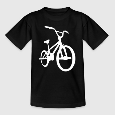 BMX - Bicycle Moto Cross - Fahrrad -Silhouette-Rad - Kinder T-Shirt