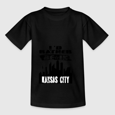 Gift Id heller være i Kansas City - T-skjorte for barn