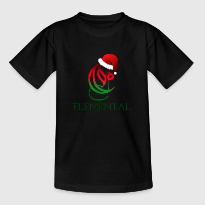 Exclusivo Elemental Christmas Logo - Camiseta niño