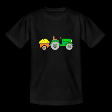 Tractor - tractor with trailer - tractor - Kids' T-Shirt