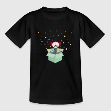 clown im karton - Kinder T-Shirt
