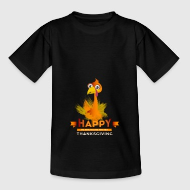 Thanksgiving dinner Turkey happy thanks truthahn - Kinder T-Shirt