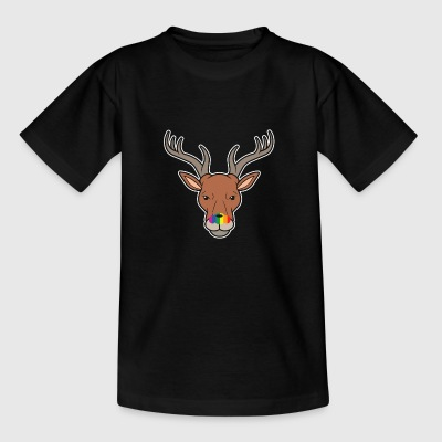 Rudolph The Gay Nosed Reindeer Funny Bisexual LGBT - Kids' T-Shirt