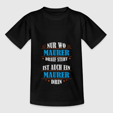 Maurer ockupationgåva - T-shirt barn