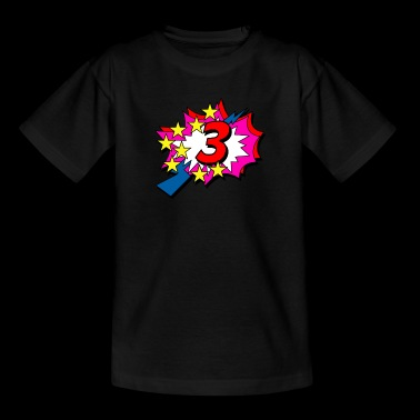 POP Star is 3 years old - Kids' T-Shirt