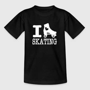 i love skating (with skate) - Kids' T-Shirt