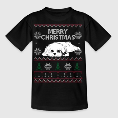 Havaneser - Ugly Christmas Sweater T-Shirt - Kinder T-Shirt
