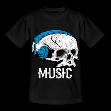 I Love Music Skull - T-shirt Enfant