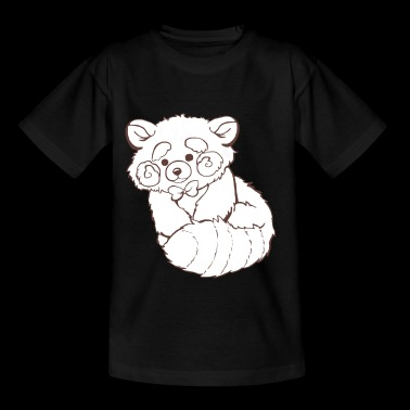 Red panda black and white - Kids' T-Shirt