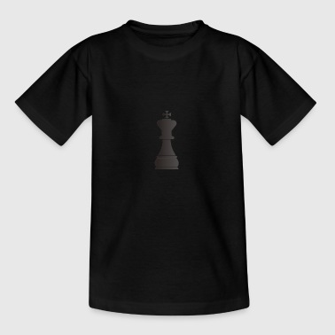 Black king chess piece - Kids' T-Shirt