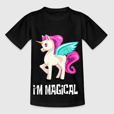 Einhorn Unicorn I'm magical - Kinder T-Shirt