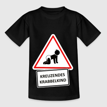 Krabbelkind crossing - Kinder T-Shirt